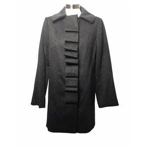 JCrew Ribbon Script Dark Gray Pea Wool Coat 8